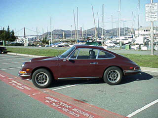 Auto Cross Racing California 1968 on 1968 Porsche 911 Original Burgundy Paint Straight And No Rust